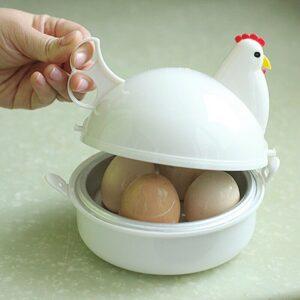 Eggs Steamer Chicken Shaped Microwave Eggs Boiler Kitchen Cooker Easter Gift
