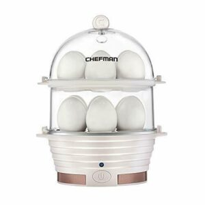 Chefman Electric Egg Cooker Boiler Rapid Egg-Maker & Poacher Food & Vegetable…