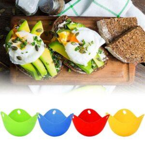 Silicone Nontoxic Egg Poacher Tray Fried Cooker Boiler Kitchen Tool 10%off