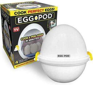 EGGPOD by Emson Wireless Microwave Hardboiled Egg Maker, Cooker, Boiler & Steame