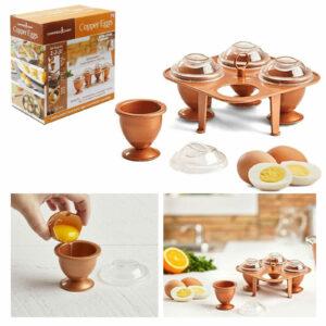 5pc Set Copper Egg Maker Boiler Poacher Holder Cooker Kitchen Non Stick Cookware