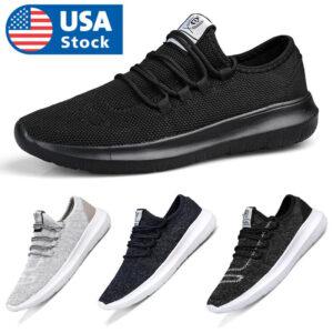 Men's Sneakers Lightweight Non Slip Athletic Running Walking Tennis Shoes Gym