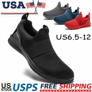 Men's Casual Slip On Athletic Sneakers Outdoor Breathable Sports Running Shoes