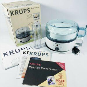 Krups Egg Express F230 Cooker Boiler Poacher 7 Eggs Hard Soft Boil Super Clean