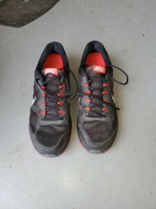 Nike Dual Fusion Run 3 Black Red Running Shoes Lace Up Size Men's US 12 sale!