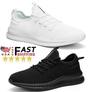 Men's Sneakers Breathable Sports Running Jogging Shoes Tennis Athletic Walking