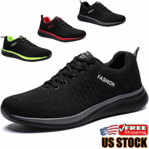 Men's Athletic Running Casual Shoes Lightweight Breathable Tennis Sneakers Gym