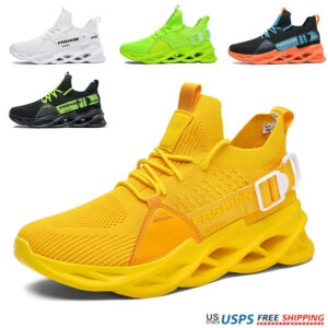 Men's Fashion Youth Sports Shoes Trend Breathable Running Gym Athletic Sneakers