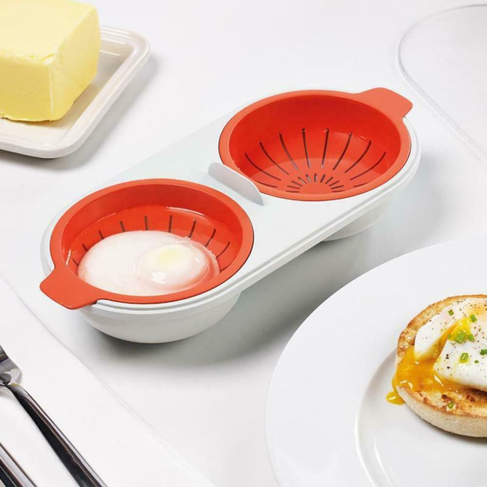 New Creative Egg Poacher Food Grade Cookware Double Cup Egg Boiler Steamed Egg S