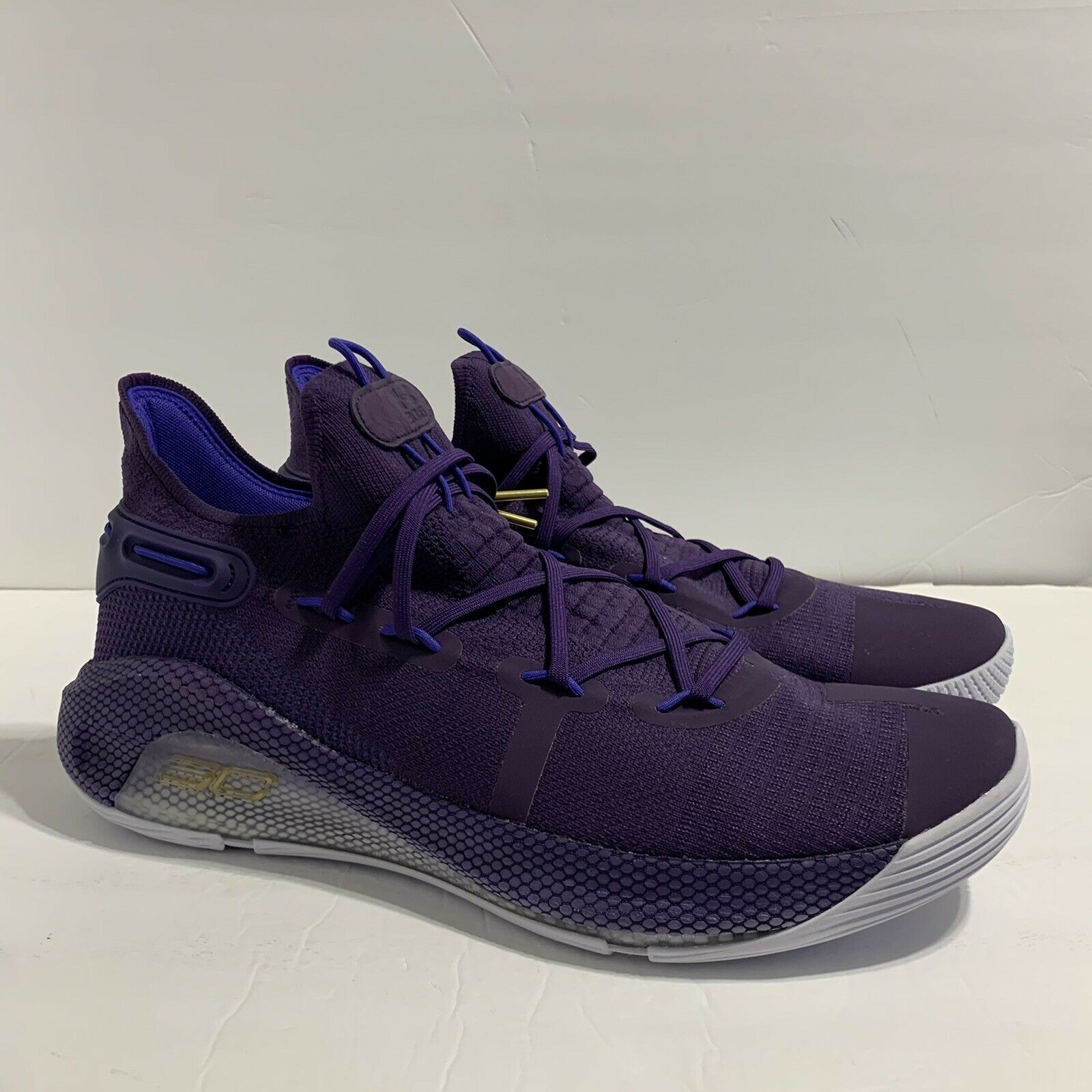 Under Armour Curry 6 Team Violet Basketball Shoes Size 16 3022893-500