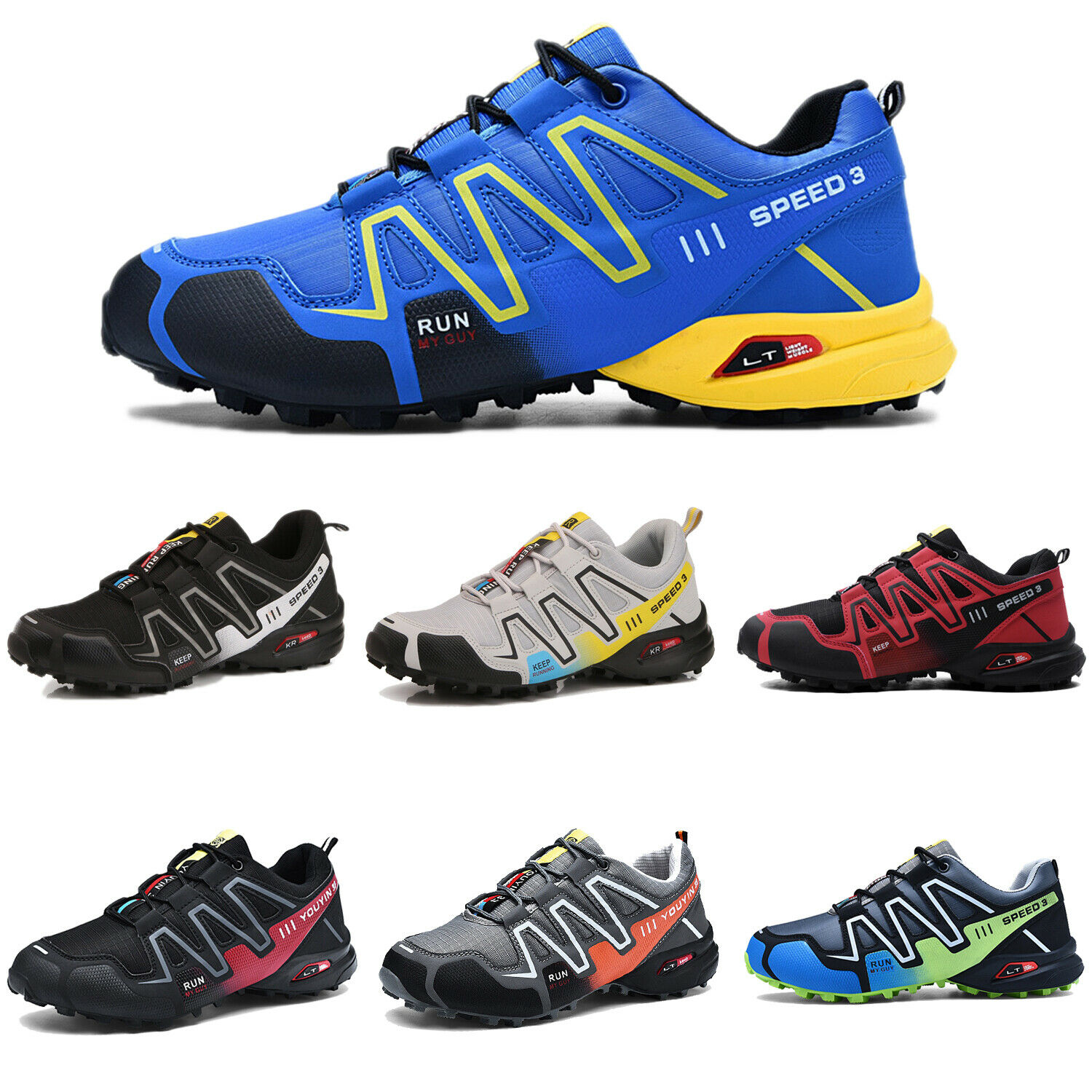 Men's Running Outdoor Off-Road Athletic Hiking Shoes Breathable Non-slip Boots