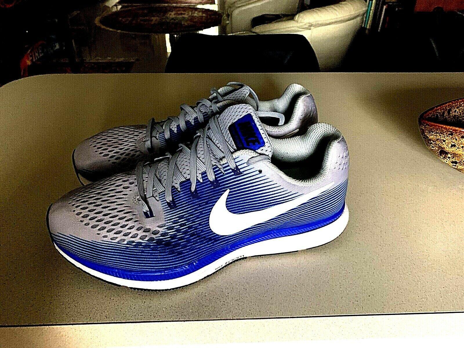 🔥SALE!-Nike Zoom Pegasus 34 Grey Racer Blue Running Shoes -11 /XE- 880557-007