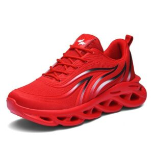 Comfortable fashion sport men's red casual shoes for sale