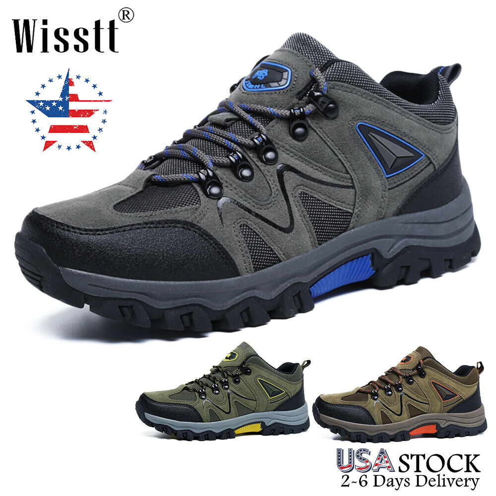 Men's Hiking Shoes Outdoor Trekking Sneakers Sports Waterproof Casual Work Boots