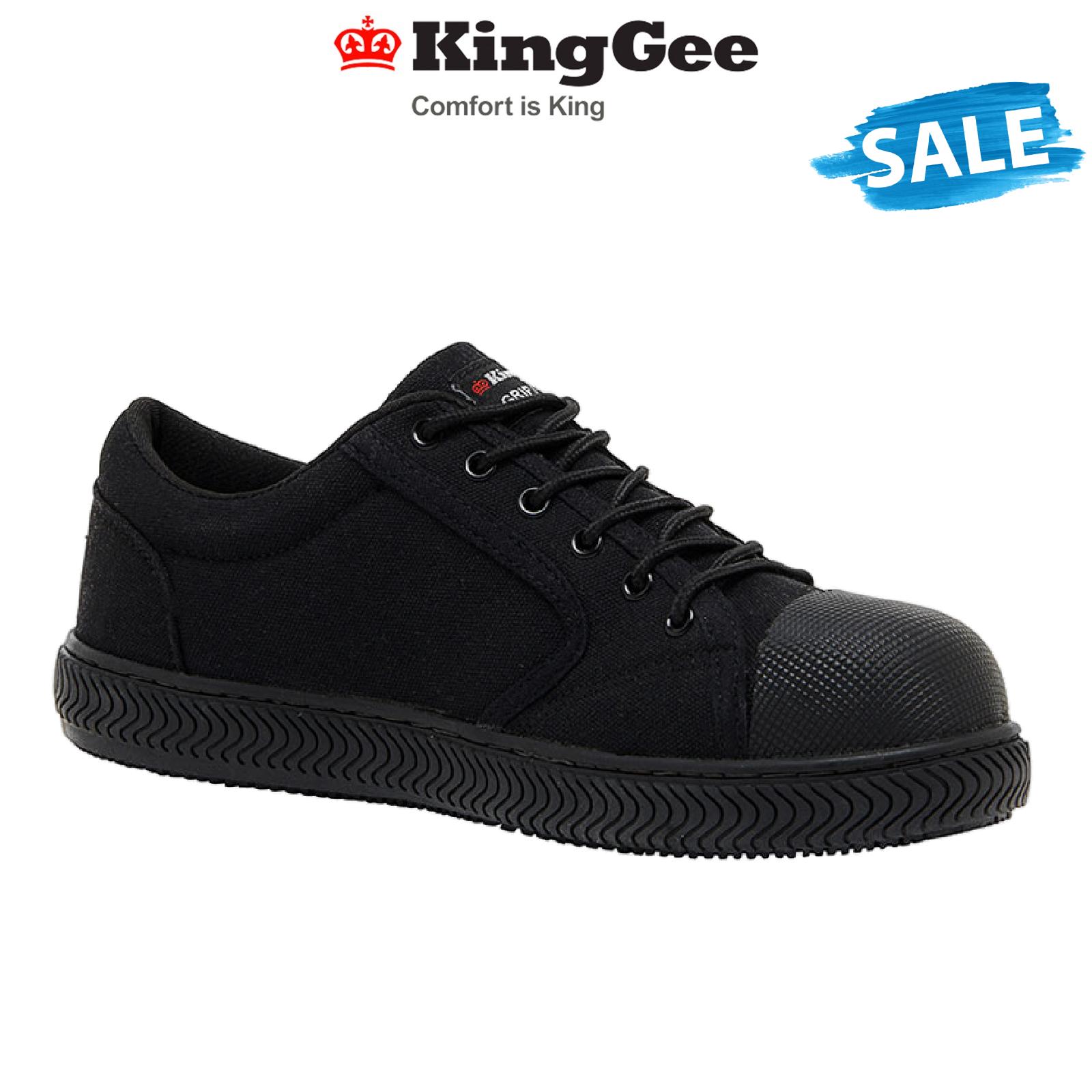SALE KingGee Grip 3000 Canvas Shoes Rubber Toe Bump Comfortable Workwear K26540
