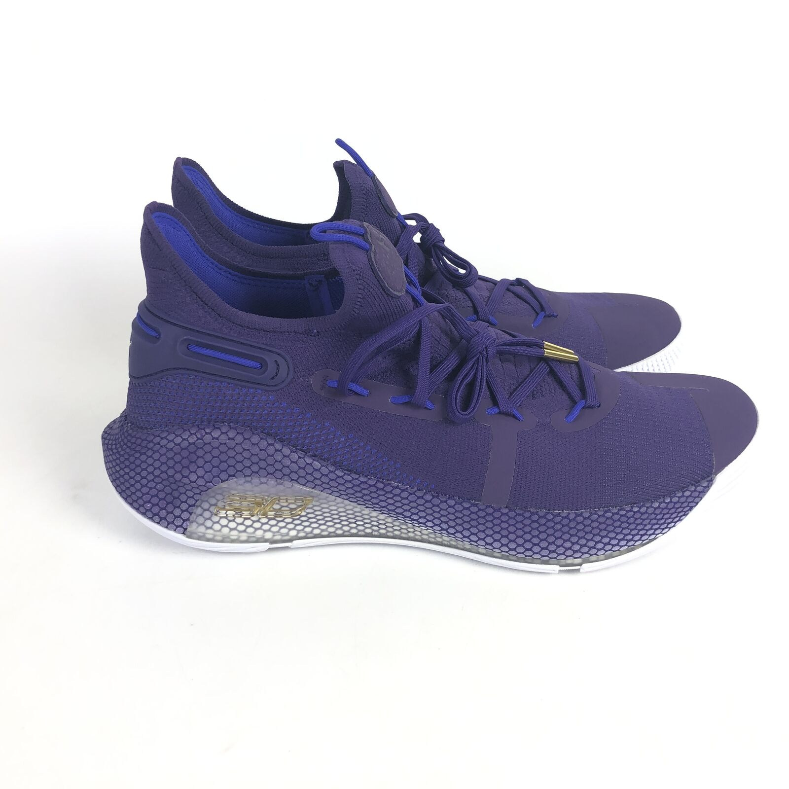 Under Armour Curry 6 Basketball Shoes Mens Size 12.5 Purple 3022893-500