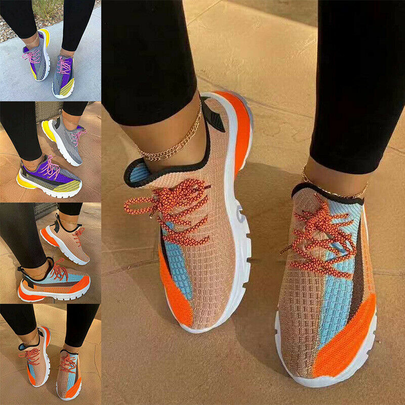 Womens Fashion Sneakers Sports Walking Running Shoes Trainer Casual Outdoor Soft